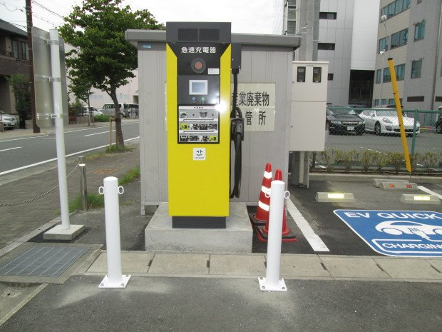 静岡県S様急速充電器設置工事 after