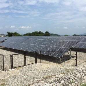 (有)M様太陽光発電システム築造工事after1