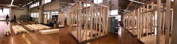 模擬実習室を組み上げ
